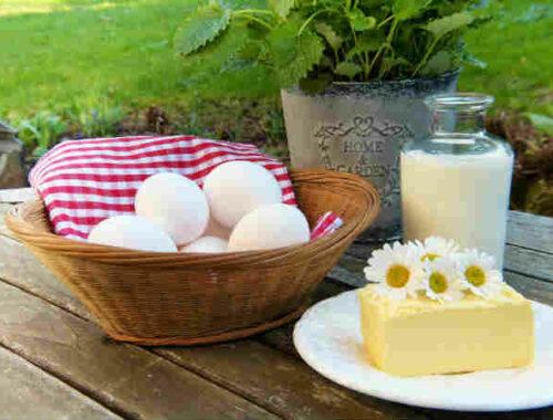 Latte uova e burro