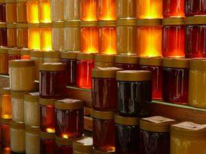 vasetti di vari tipi di miele