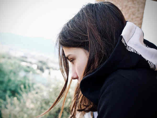 Teenager triste